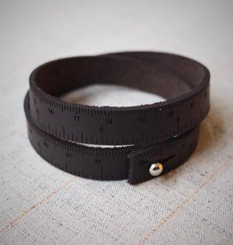 I Love Handles WRIST RULER - DARK BROWN