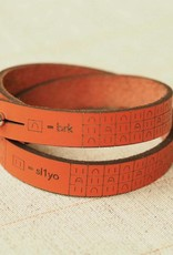 I Love Handles BRIOCHE WRIST RULER - ORANGE