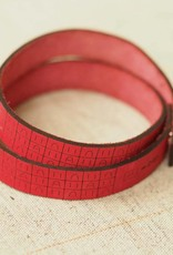 I Love Handles BRIOCHE WRIST RULER - RED