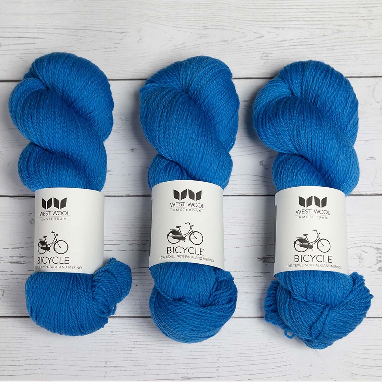 West Wool BICYCLE TRUE BLUE