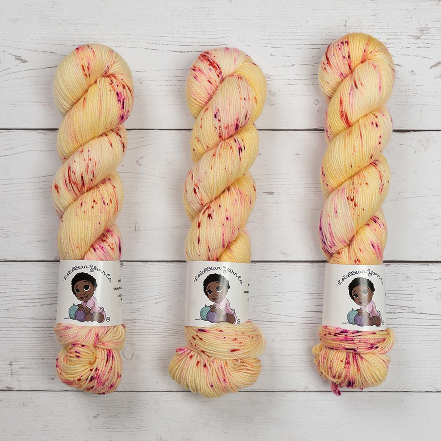 LOLABEAN YARN CO NAVY BEAN - I'M A LITTLE LAD WHO LOVES BERRIES & CREAM