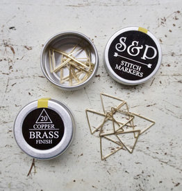 TRIANGLE BRASS STITCH MARKERS 20 PCS
