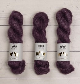 West Wool GLOWHAIR AUBERGINE