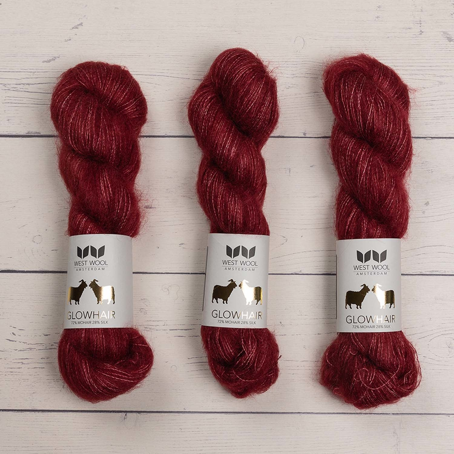 West Wool GLOWHAIR BERRY
