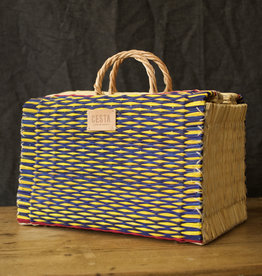 CESTA MAKER - STRIPEY YELLOW BLUE