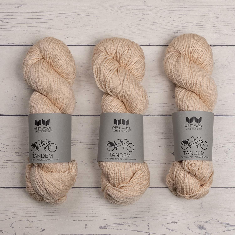 West Wool TANDEM WHITE PEACH
