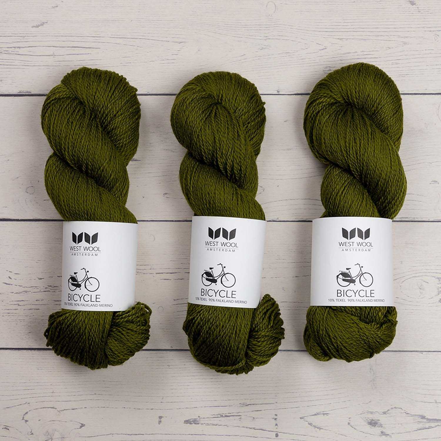 West Wool BICYCLE GREEN OLIVE