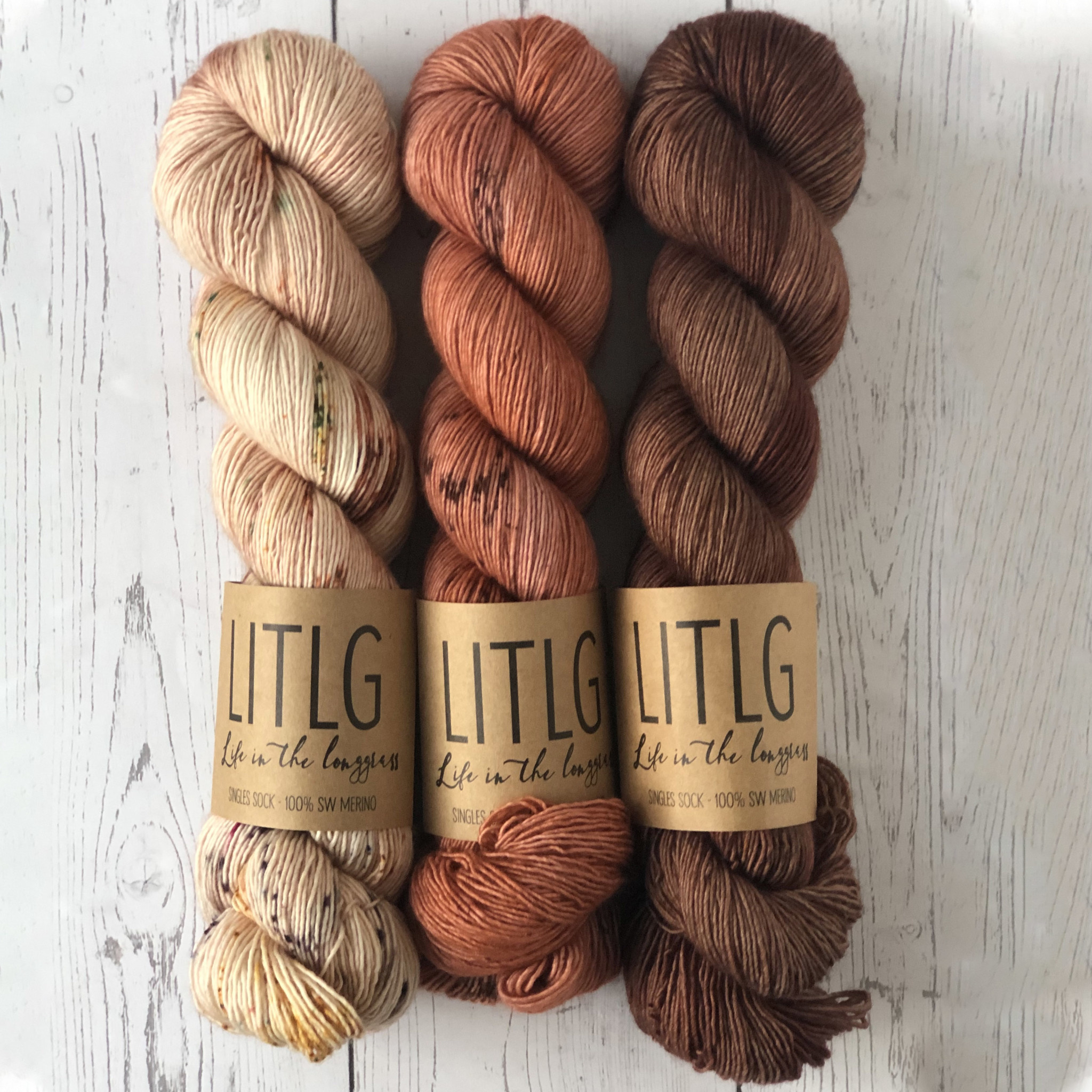 THREE SKEIN FADE - CLAY PIT