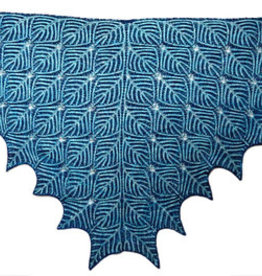 2- COLOR UNDER DUTCH SKIES BRIOCHE SHAWL by NANCY MARCHANT
