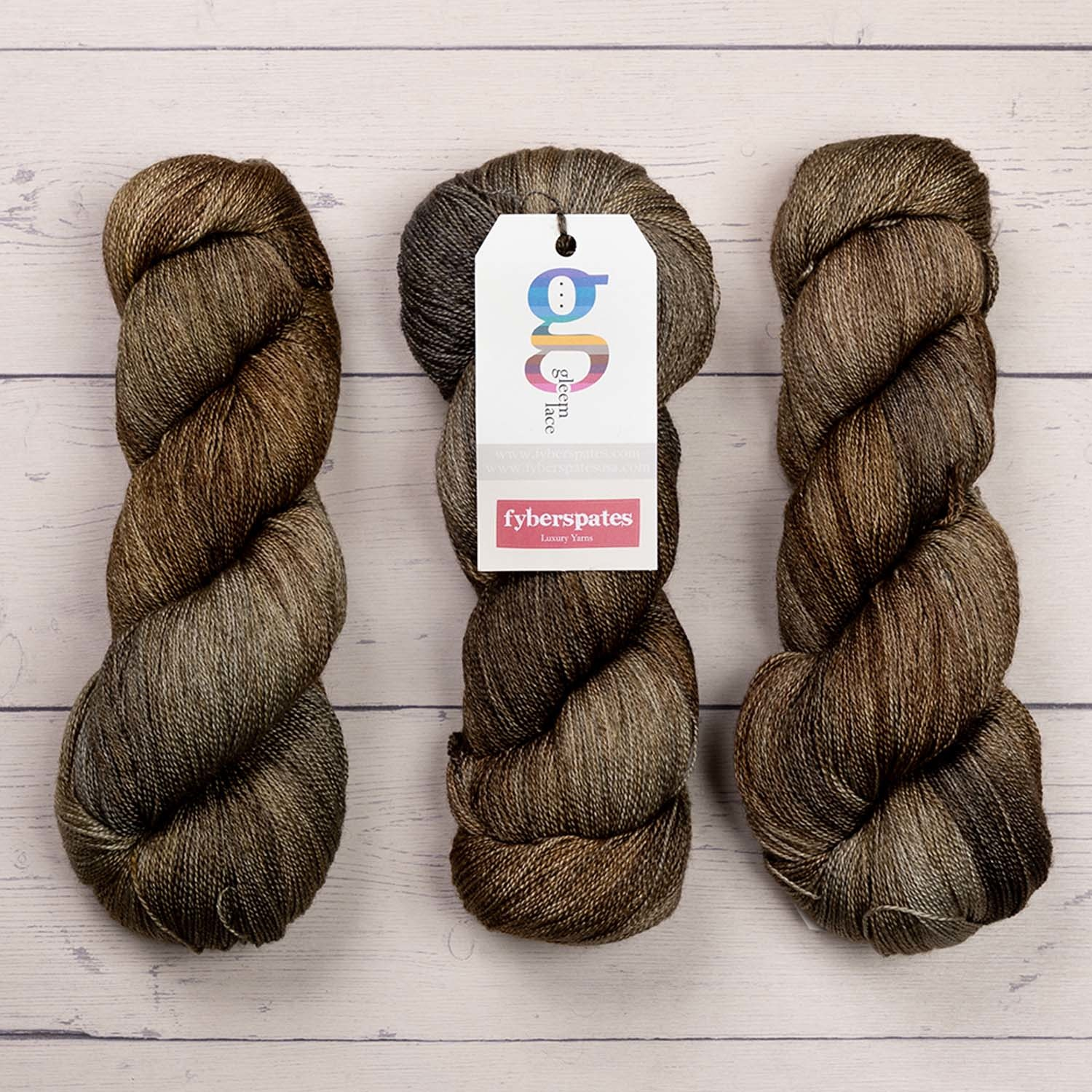 Fyberspates GLEEM LACE - 703 SILVER AND BRONZE