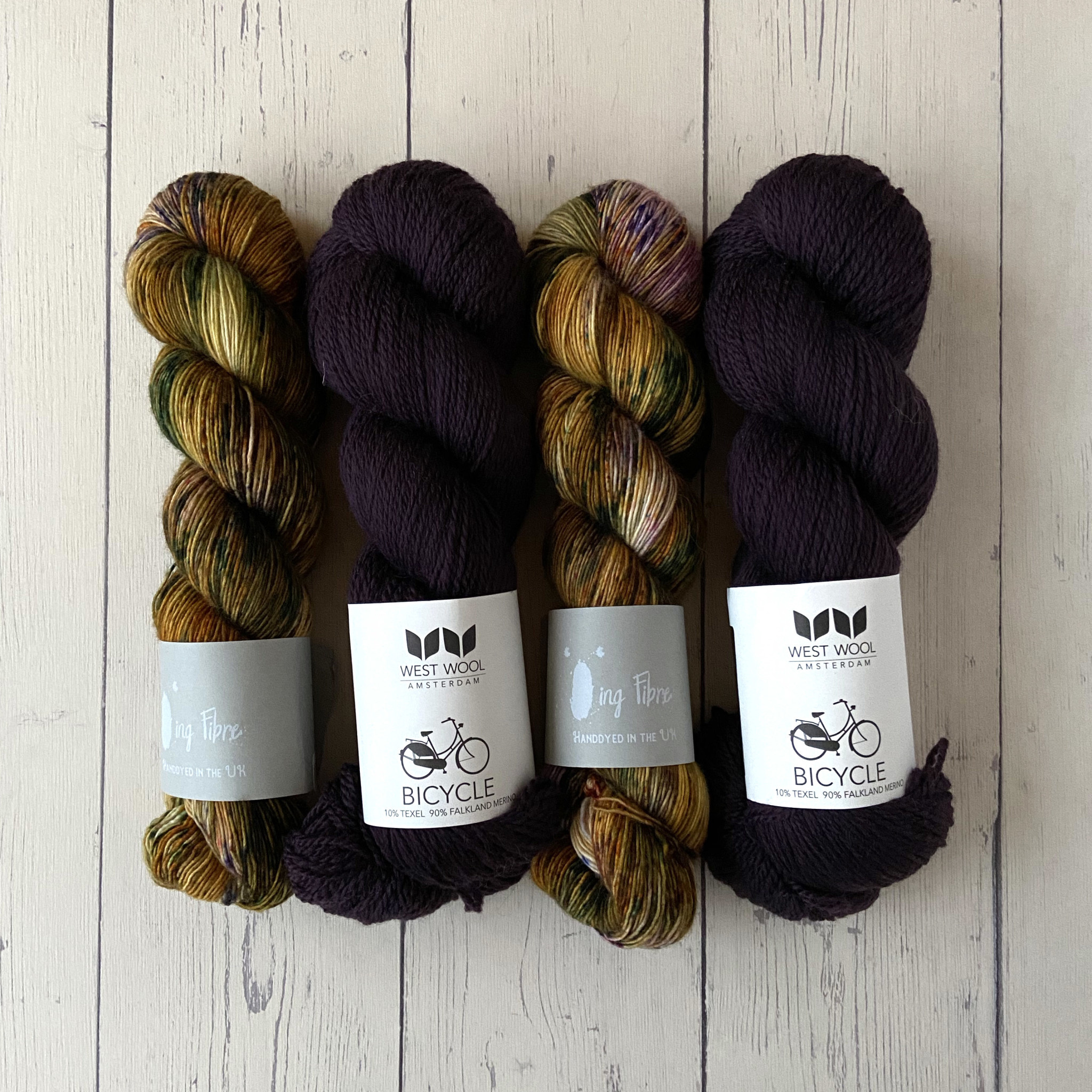 Westknits WESTKNITS KIT MOSAIC MUSINGS - PURPLE 3