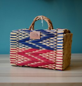 CESTA PEERIE MAKER - ZIG ZAG RED BLUE