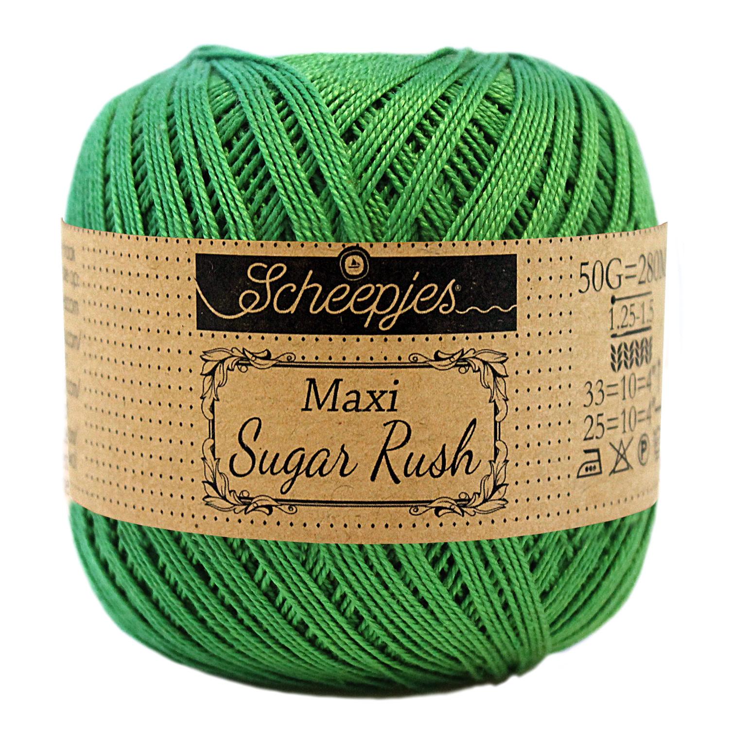 Scheepjes MAXI SUGAR RUSH - GRASS GREEN 606