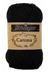 Scheepjes CATONA - JET BLACK 110