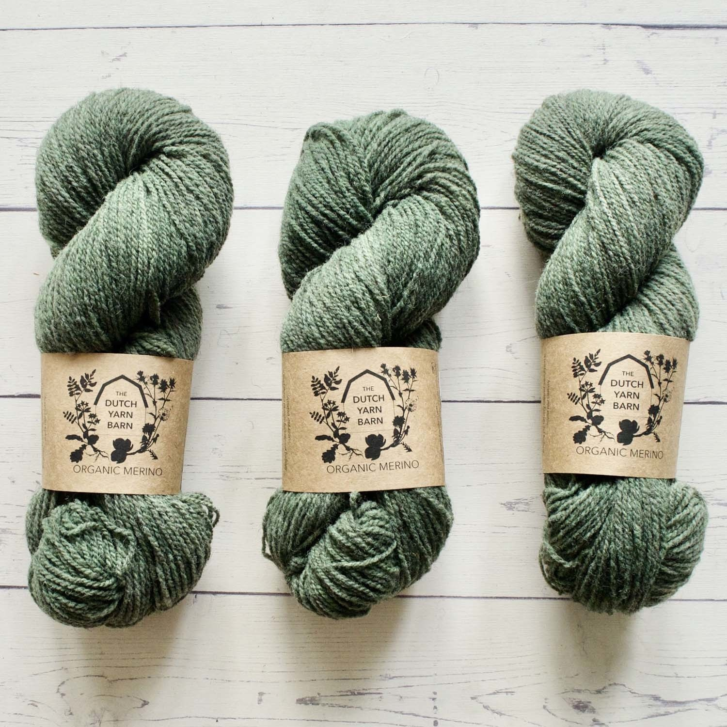 DUTCH YARN BARN ORGANIC MERINO - PINE