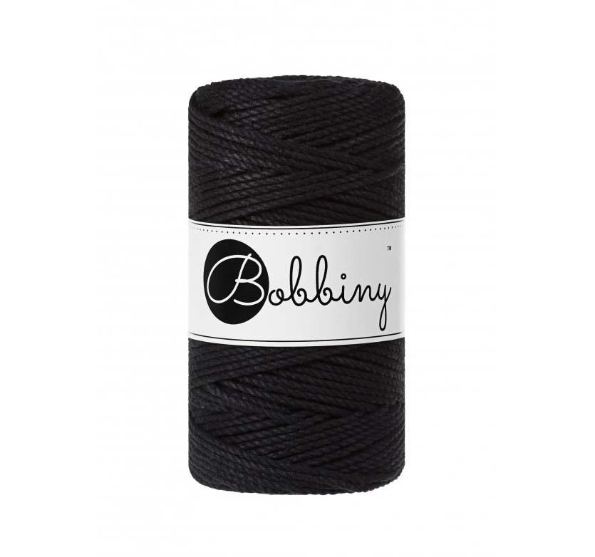 Bobbiny Cords 3PLY MACRAMÉ ROPE 3MM - BLACK