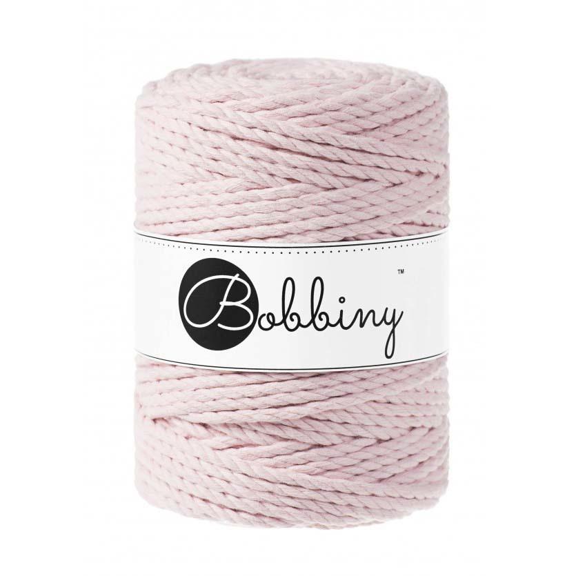 Bobbiny Cords 3PLY MACRAMÉ ROPE 5MM - BABY PINK