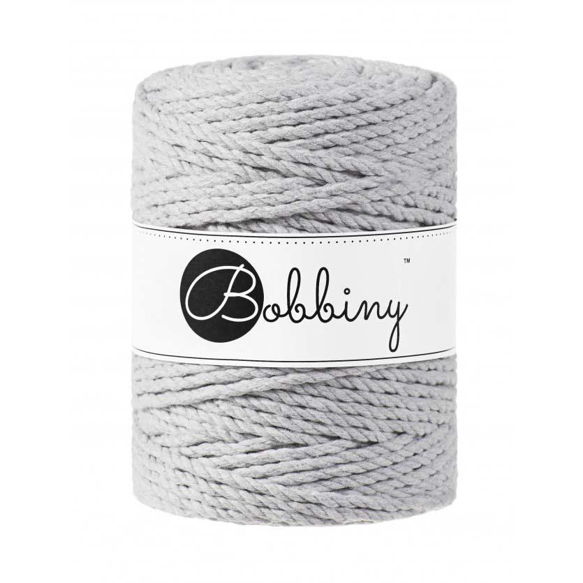 Bobbiny Cords 3PLY MACRAMÉ ROPE 5MM - LIGHT GREY