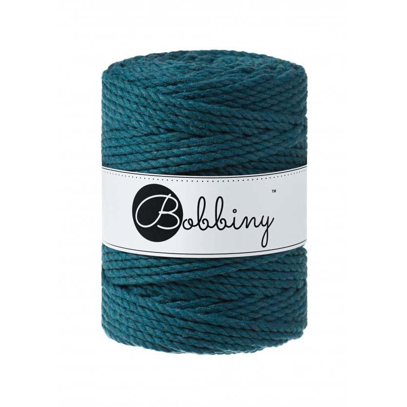 Bobbiny Cords 3PLY MACRAMÉ ROPE 5MM - PEACOCK BLUE
