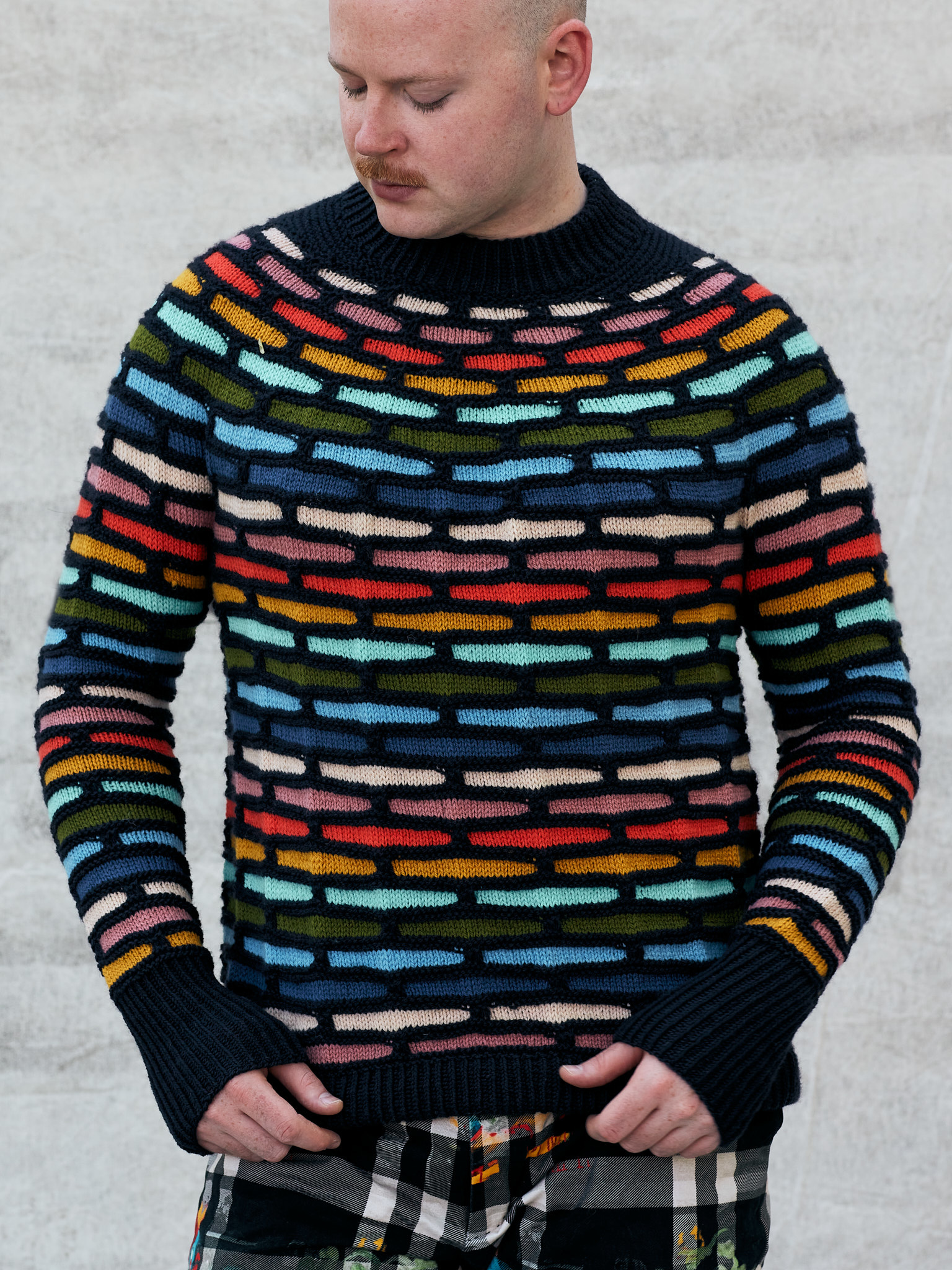 Westknits WK PAINTING BRICKS SWEATER CONTRAST COLOUR - KIT 7