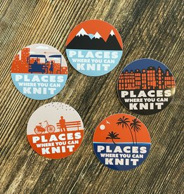 PLACES YOU CAN KNIT STICKER PACK