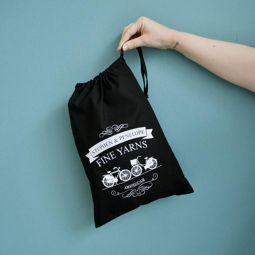 PROJECT BAG - STEPHEN & PENELOPE BIKES BLACK