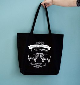 LARGE STEPHEN + PENELOPE BLACK TOTE BAG