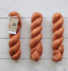 Mominoki Yarn RAMIE SILK - ORANGE COSMOS