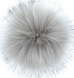 "LovaFur ""FOX"" VEGAN POM POM - STEEL GREY"