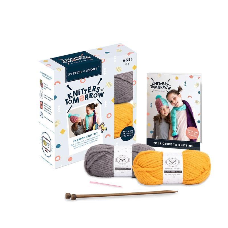 Stitch & Story KNITTERS OF TOMORROW - CHILDREN'S KNITTING KIT