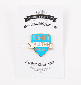 KNIT ALL THE THINGS ENAMEL PIN
