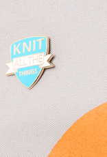 ENAMEL KNIT ALL THE THINGS PIN