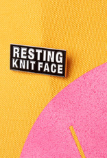 RESTING KNIT FACE ENAMEL PIN