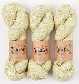 Tíntica MERINO FINGERING SOCK - CREAMY GREEN