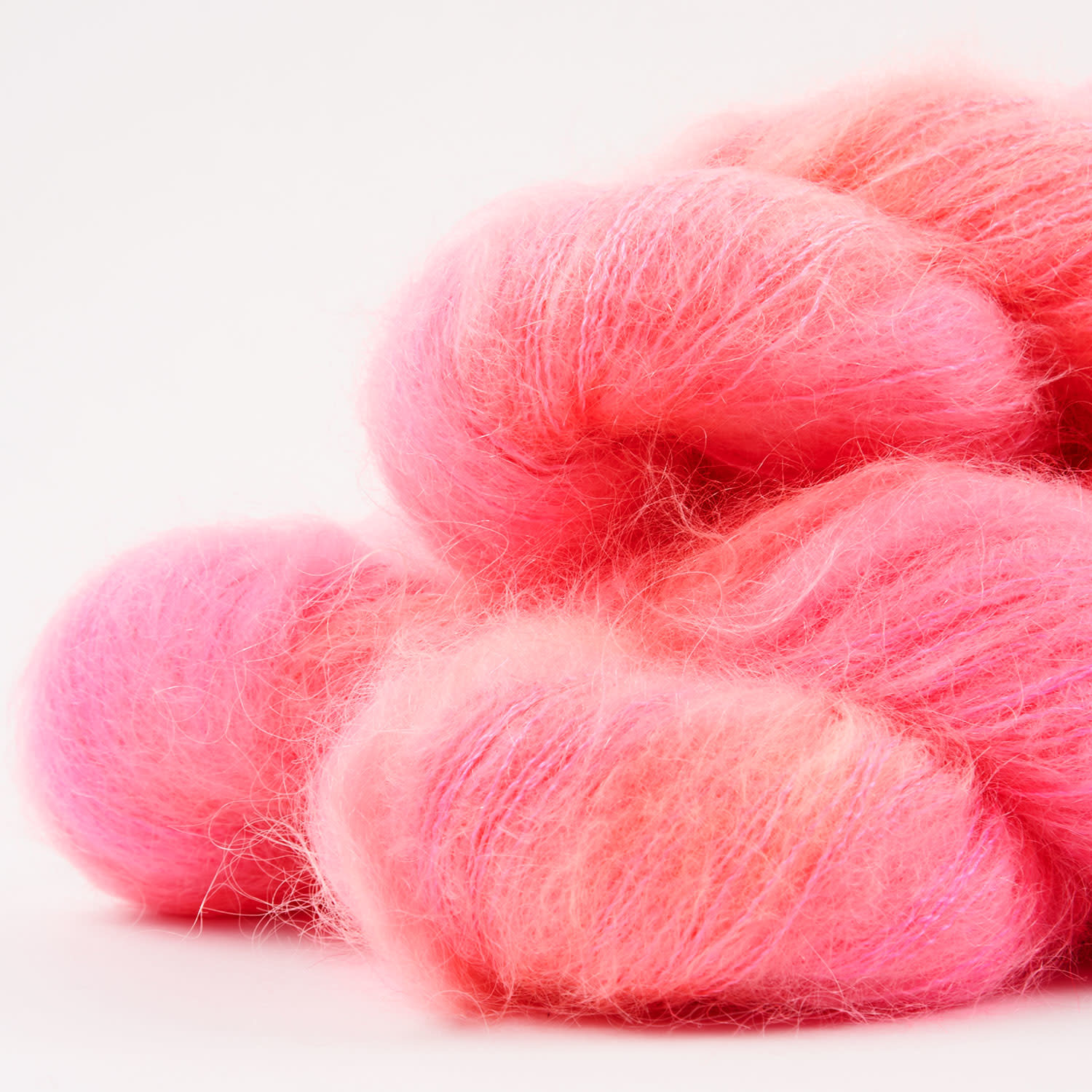 WALK collection KID MOHAIR LACE - FLAMINGO PINK