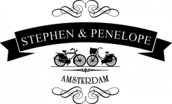 Stephen and Penelope Yarn shop in Amsterdam