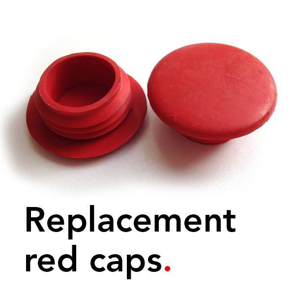 Bathroom Mania replacement red caps | rubber