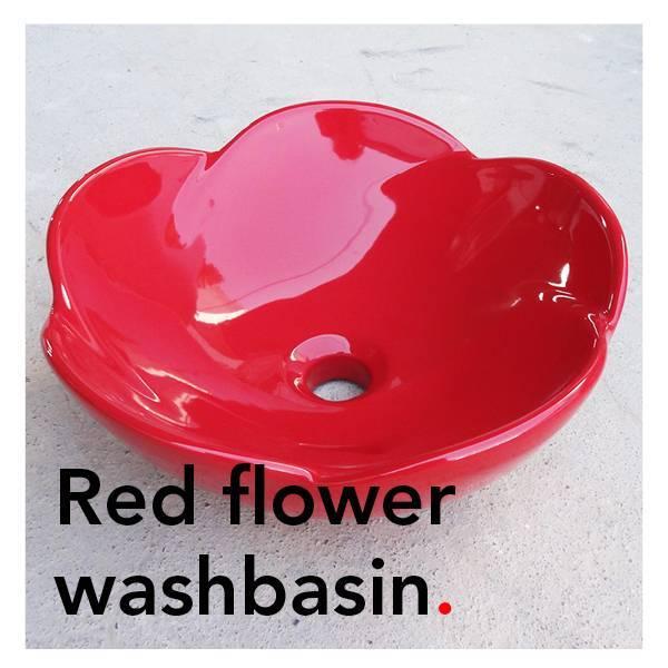 Bathroom Mania porcelain Spring Blossom washbasin | red
