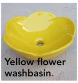 Bathroom Mania porcelain Spring Blossom washbasin | yellow