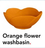 Bathroom Mania porcelain Spring Blossom washbasin | orange