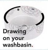Bathroom Mania porcelain washbasin Tattoo
