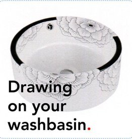 Bathroom Mania porcelain washbasin Tattoo