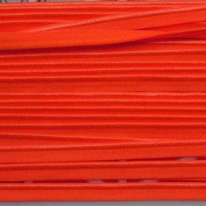 Elastische paspel - fluo oranje