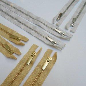 Zilveren rits 40 cm (YKK)