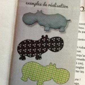 Al & co - Patroon knuffel - Nijlpaard