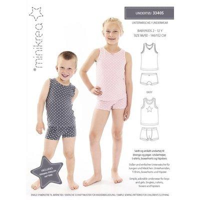 Minikrea - Ondergoed - patroon jongens & meisjes (2-12 jaar)
