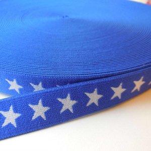 Elastische tailleband - blauw met sterren (2.00 cm)