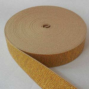 Elastische tailleband - glitter goud (2,50 cm breed)