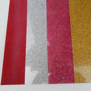 Flexfolie - Rood Glitter