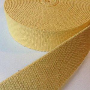 Tassenband lichtgeel 30 mm